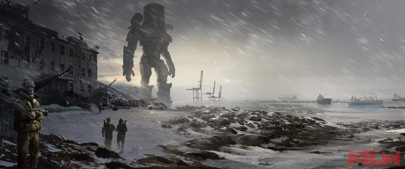 Illustration for article titled Pacific Rim concept art reveals what the townsfolk do with rotting Kaiju carcasses