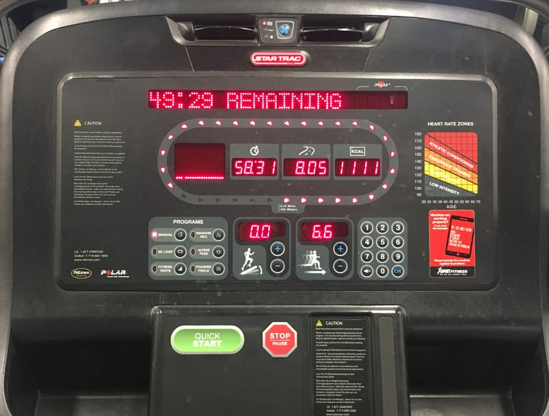 Illustration for article titled Report: Whoa, Last Person On Treadmill Ran 8 Miles