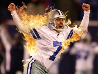 Illustration for article titled Martin Gramatica Celebrates Game-Winning Field Goal With Self-Immolation