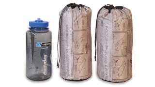 Illustration for article titled This Killer Tent Weighs Almost Nothing and Fits In Your Nalgene Bottle