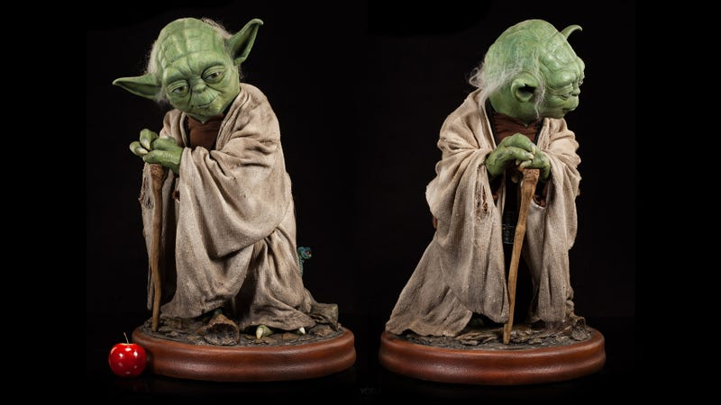 Illustration for article titled A Jedi Master Would Surely Approve of Spending $2,500 on This Life-Size Yoda