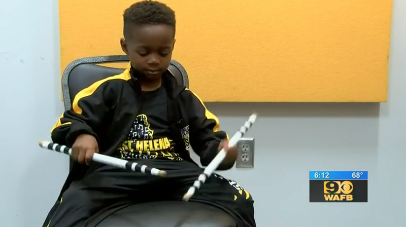 Illustration for article titled 5-Year-Old Drumming Prodigy Receives Scholarship Offer From HBCU Alcorn State University: 'It's Mind-Blowing Every Day'