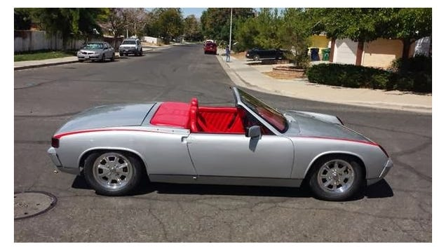 Air Cooled Engine And Driver In This Porsche 914 Speedster