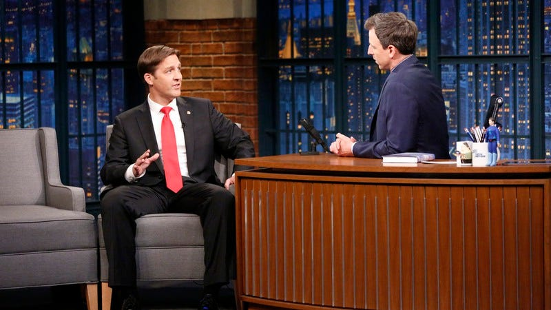 Ben Sasse, Seth Meyers (Photo: Lloyd Bishop/NBC)