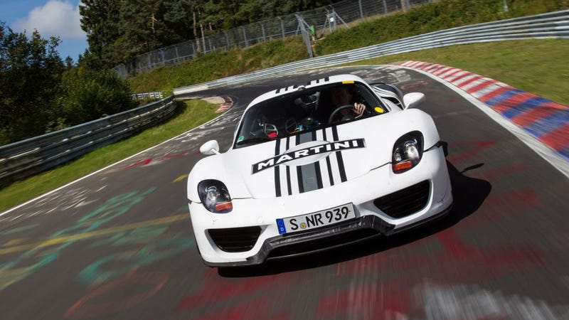 Illustration for article titled The Porsche 918 Spyder Is Faster Than The Nissan GT-R Around The 'Ring