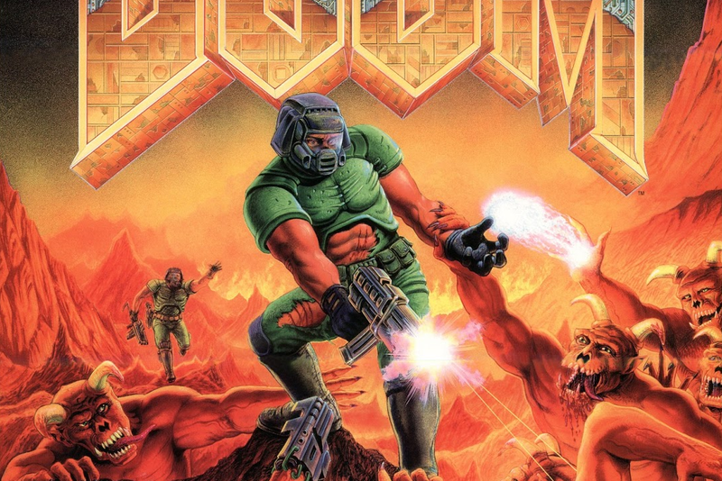 Illustration for article titled Who Is The Other Marine In The Doom Box Art?