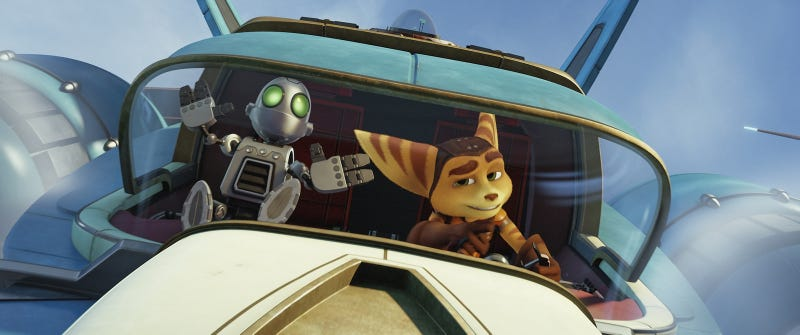 Illustration for article titled The Ratchet & Clank Movie Is A 90 Minute Cutscene Looking For A Game