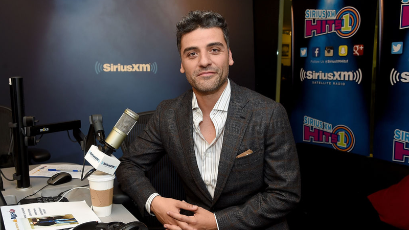 Oscar Isaac visits SiriusXM Studios on February 21, 2018 in New York City, presumably contemplating his next 10 roles.