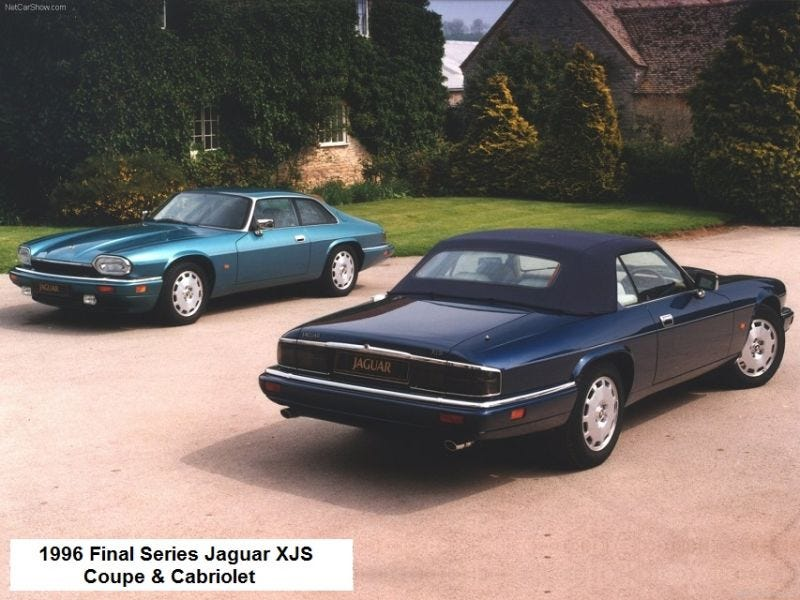 Illustration for article titled 22 Years Ago Today The Last Jaguar XJS Was Produced.