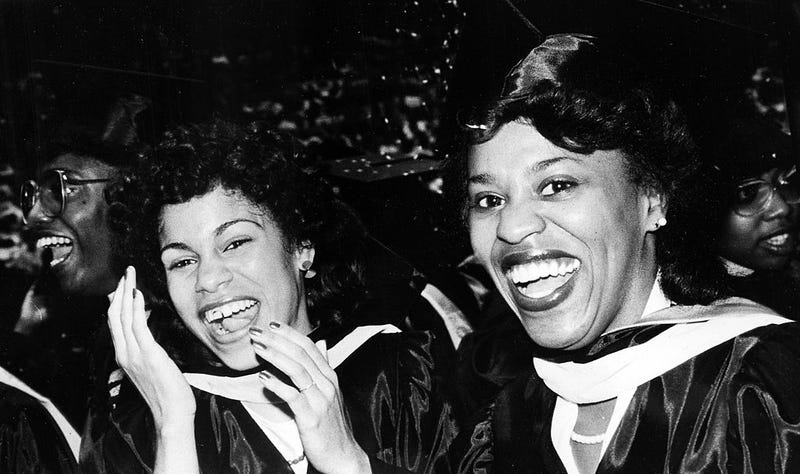 African american women at morgan state university in baltimore during a graduation ceremony in 1960 afro american newspapers gado getty images