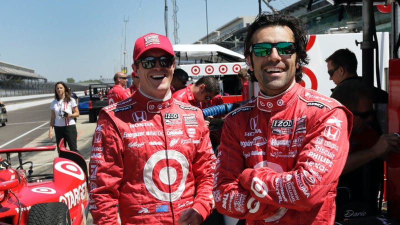 Dixon (left) and Franchitt (right) when they were teammates at Chip Ganassi Racing in 2013. Photo credit: AJ Mast/AP Images