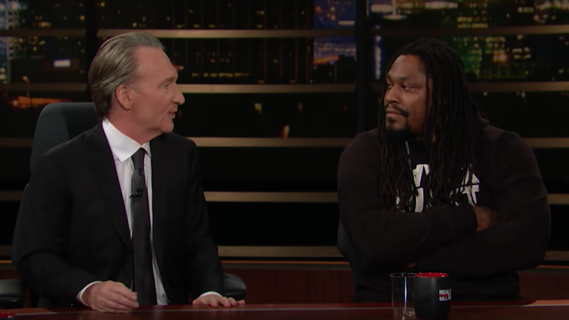 Illustration for article titled Marshawn Lynch Endures Patronizing Lectures About Voting From Bill Maher And Barney Frank