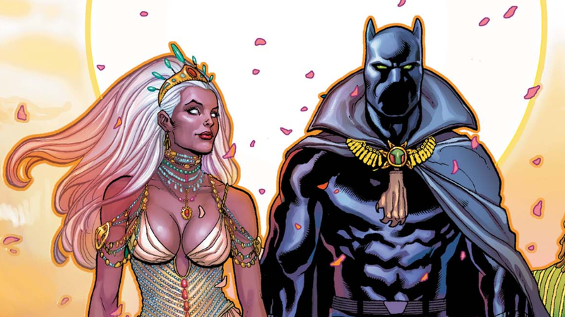 Black Panther and Storm romance in Marvel Comics