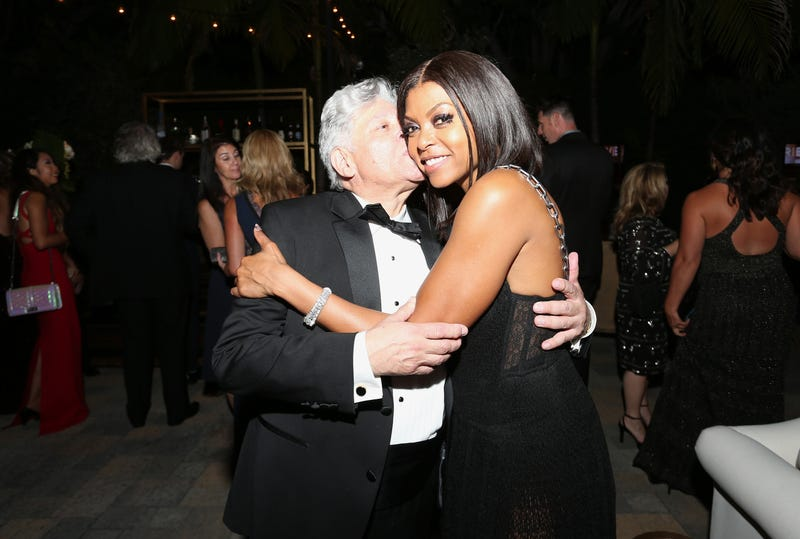 Actress Taraji P. Henson and her manager Vincent Cirrincione in Los Angles at the Primetime Emmys Fox after-party Sept. 20, 2015. (Frederick M. Brown/Getty Images)