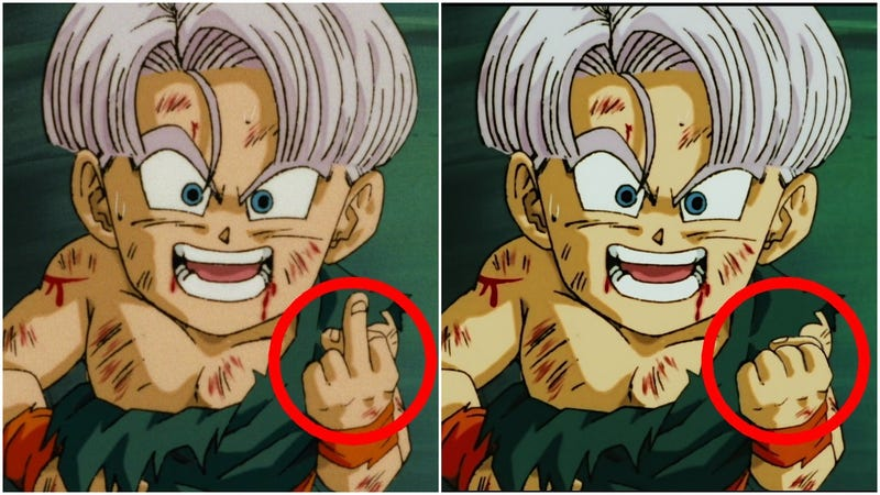 Illustration for article titled In Japan, Dragon Ball Z Blu-ray Edits Out Obscene Hand Gesture