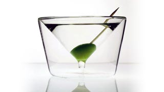 Illustration for article titled InsideOut Martini Glass Is So Silly It's Brilliant