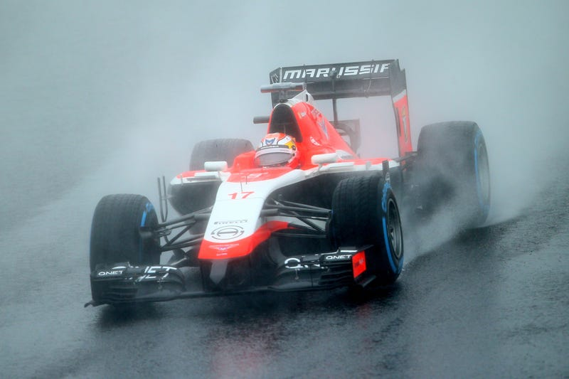 Illustration for article titled FIA: Jules Bianchi And Adrian Sutil Crashed Because Of Same Water Patch