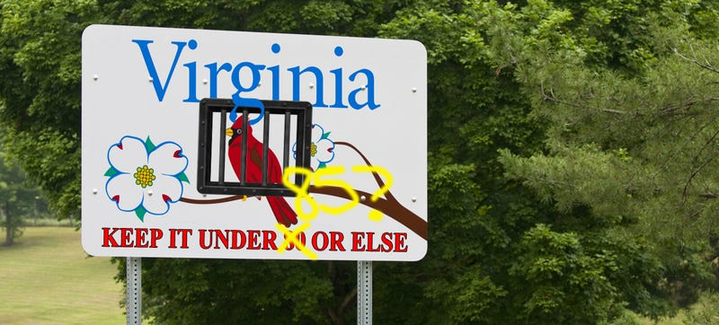 Illustration for article titled Virginia Bill Aims To Raise Reckless Driving To 85 MPH Instead Of 80
