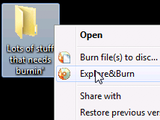 Illustration for article titled Explore&Burn Quickly Burns Files and Folders to Disc via Right-Click