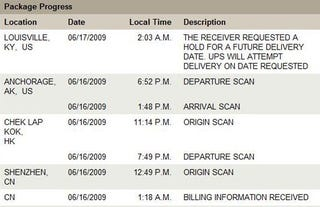 """Illustration for article titled Apple Tells UPS To Hold Your iPhone 3GS Until """"Future Delivery Date"""""""