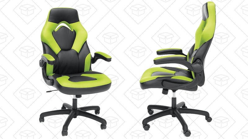 Essentials Racing Style Leather Gaming Chair, $66