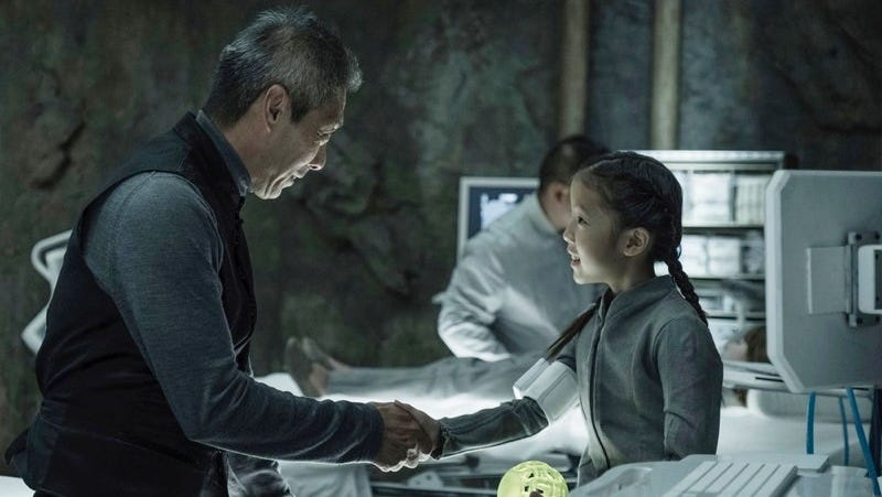 Jules-Pierre Mao (François Chau) meets Mei (Leah Madison Jung) on Io.