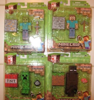 Illustration for article titled Minecraft Overworld: Series 1 Action Figures