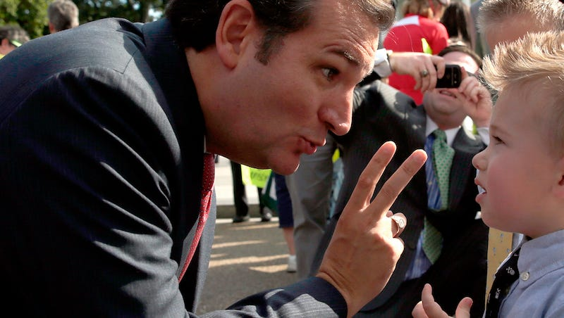 Illustration for article titled My Favorite Horror Movie Is Ted Cruz Interacting with a Child
