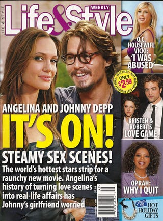 Illustration for article titled This Week In Tabloids: Jolie & Johnny Destined To Fornicate