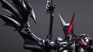 Illustration for article titled A Closer Look At The Madness That Is The Final Fantasy-Style Batman Toy