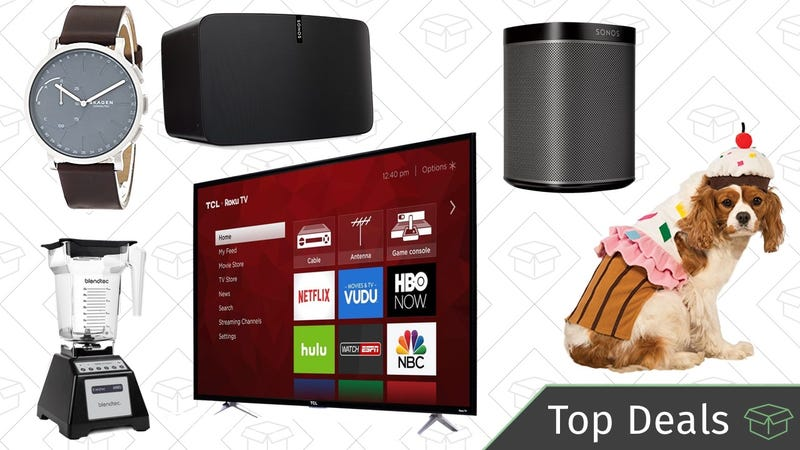 Illustration for article titled Monday's Top Deals: 4K TV, Sonos Speakers, Halloween Costumes, and More