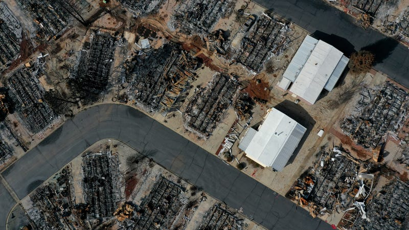 The remnants of the deadly Camp Fire in Paradise, California.