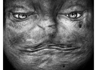 Illustration for article titled Upside-Down Portraits Of Human Faces Look Like Creatures From Space