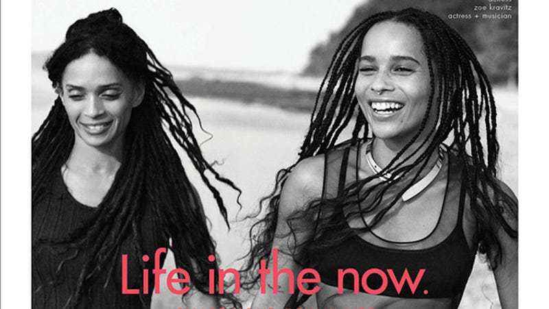 Illustration for article titled Zöe Kravitz and Lisa Bonet Embody Mom-Daughter Goals in New Calvin Klein Ad