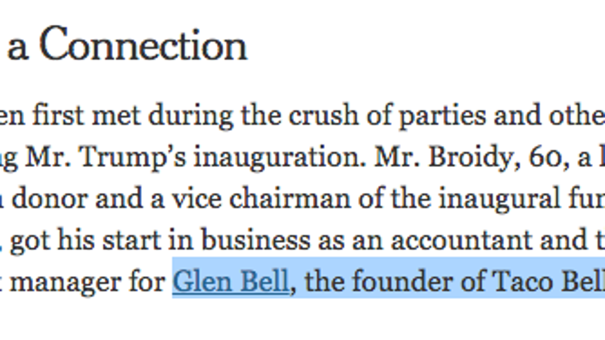 Are You Aware That Taco Bell Was Named After a Man Named Glen Bell ...