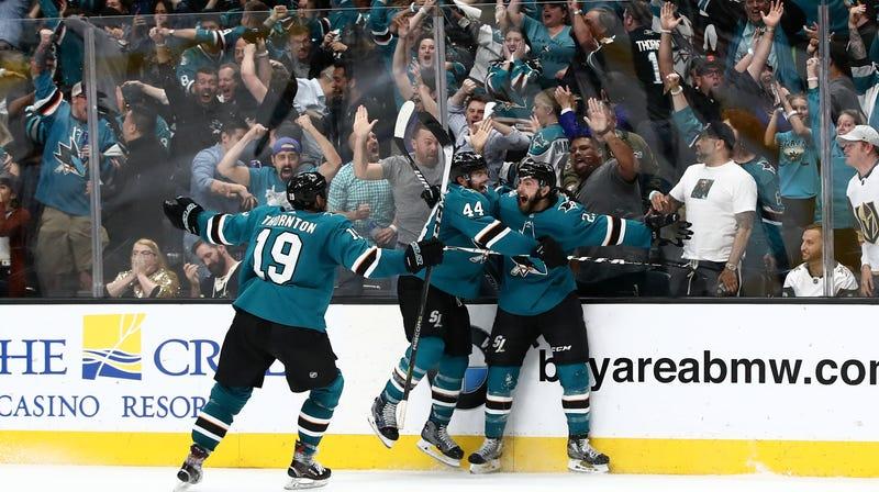 Illustration for article titled Sharks Avenge Joe Pavelski's Bleeding Head, Pull Off Wild Game 7 Comeback To Eliminate Vegas
