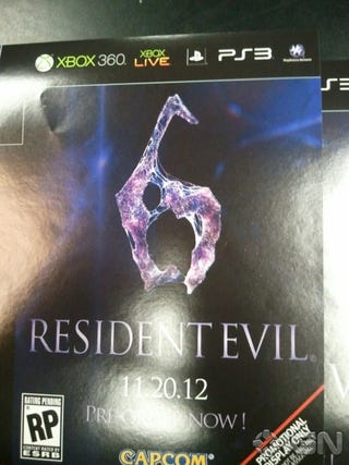 Illustration for article titled Rumor: Resident Evil 6 Hits This November