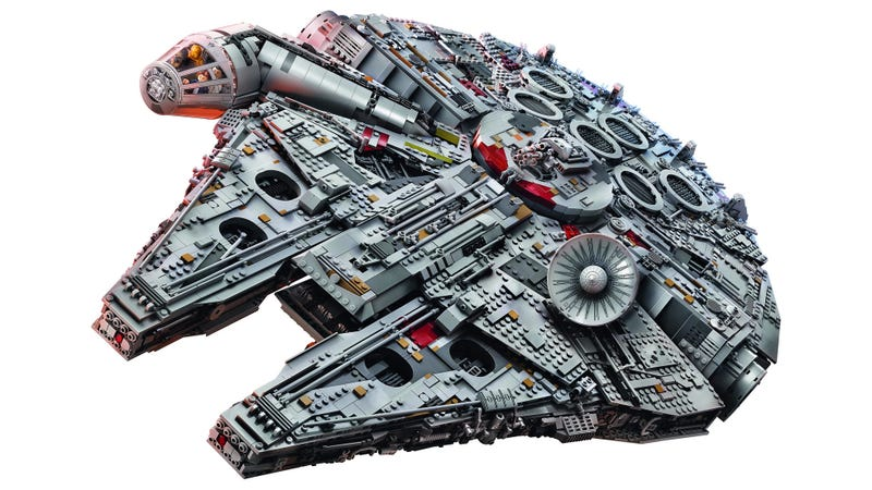 Illustration for article titled This 7,541-Piece Millennium Falcon Is the Largest, Most Desirable Lego Set Ever Created