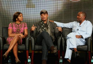 Co-stars Taraji P. Henson and Terrence Howard and Executive Producer Lee Daniels speak onstage during the Empire panel discussion at the 2015 Winter TCA Tour at the Langham Hotel Jan. 17, 2015, in Pasadena, Calif. Frederick M. Brown/Getty Images