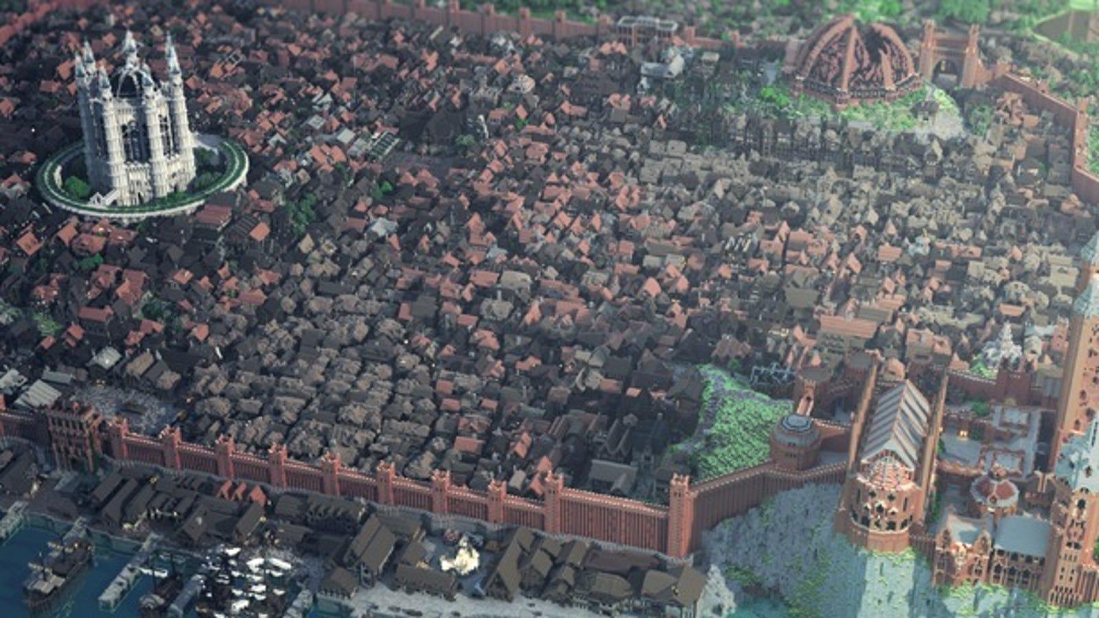 Las ciudades más espectaculares recreadas en Minecraft