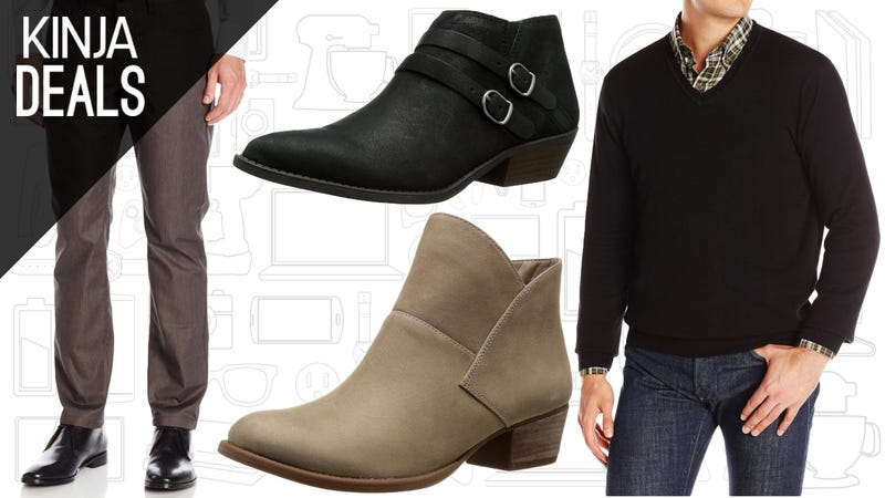 Illustration for article titled Men's Clothes and Women's Boots Are Deeply Discounted on Amazon Today
