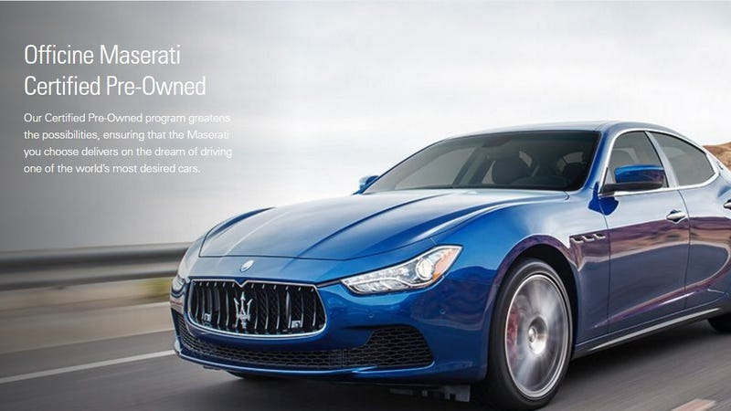 you can now buy a used maserati with an unlimited mile warranty. Black Bedroom Furniture Sets. Home Design Ideas