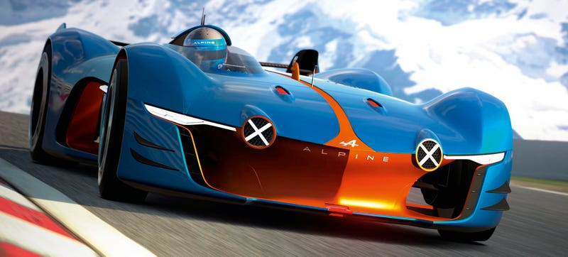 Illustration for article titled The Alpine Vision Gran Turismo Is The Most Interesting Digital Car Yet
