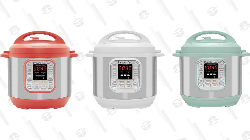 Instant Pot DUO60 in Red, White, and Teal | $60 | Amazon