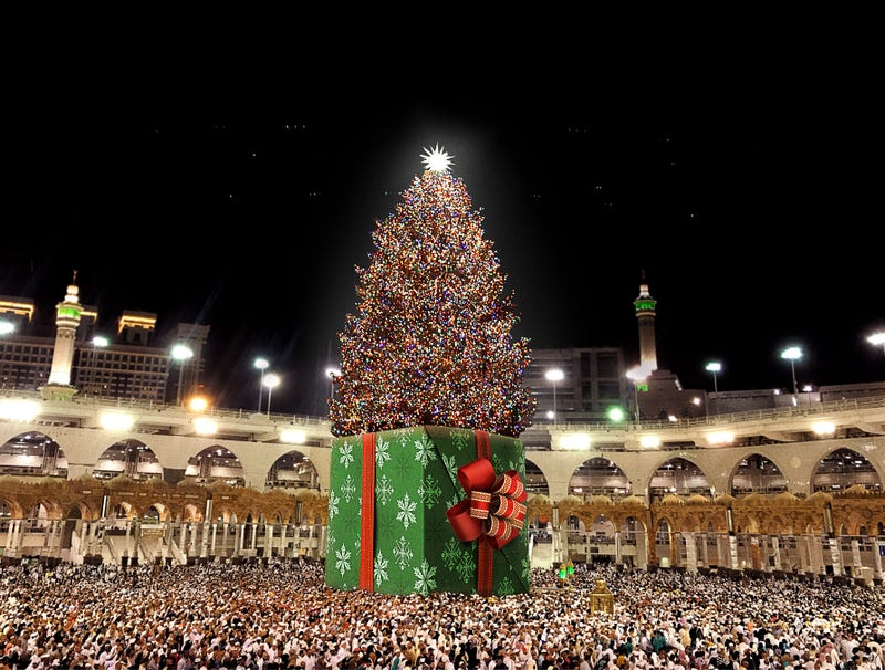 Illustration for article titled Great Mosque Of Mecca Hosts Annual Christmas Tree Lighting