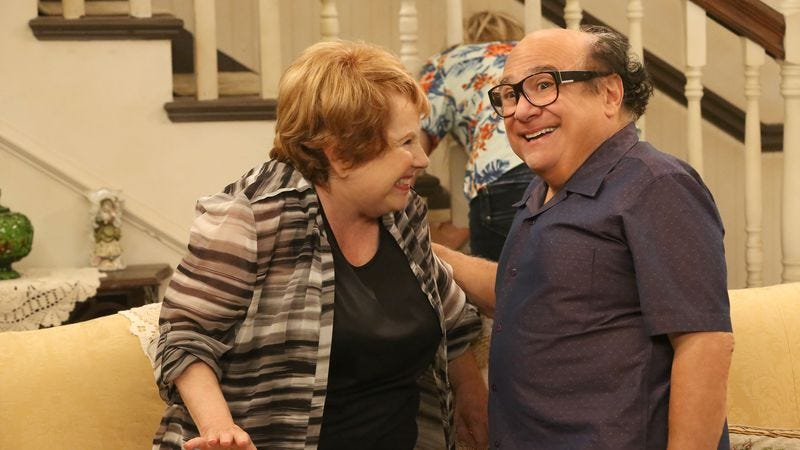 Lynne Marie Stewart, Danny DeVito (Photo: Patrick McElhenney/FXX)