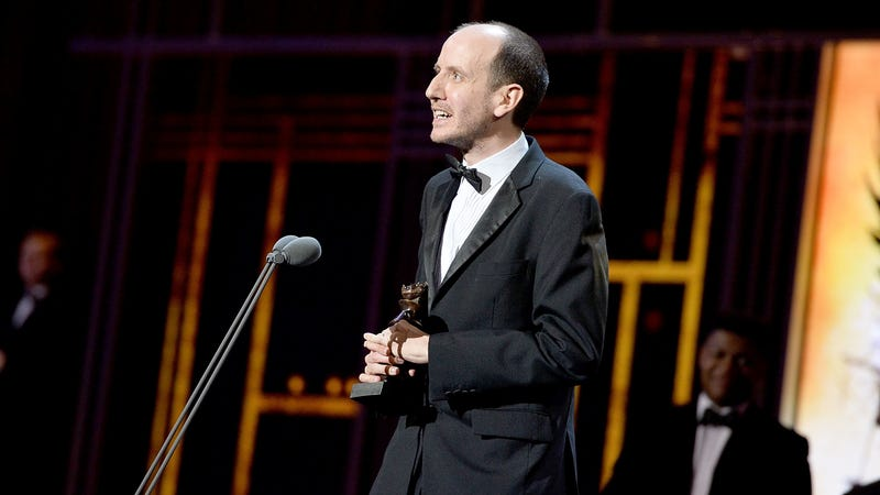 Jack Thorne accepts the 2017 Olivier Award for Best New Play for 'Harry Potter And The Cursed Child.' Image: Jeff Spicer/Getty Images