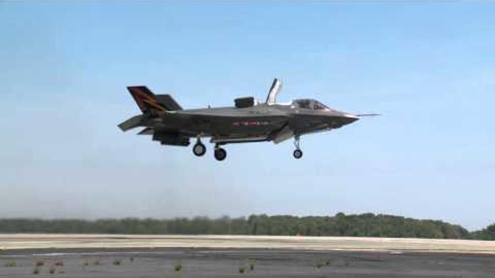 Así de espectacular es el despegue vertical del caza F-35B