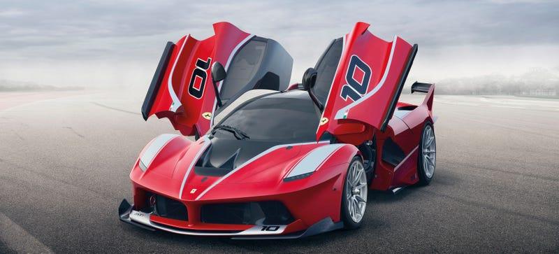 Illustration for article titled The Ferrari FXX K Is A 1,035 Horsepower Hybrid Monster