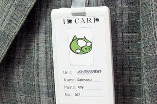 Illustration for article titled Hidden Nametag Camera Looks Slick, Will Probably Get You Caught